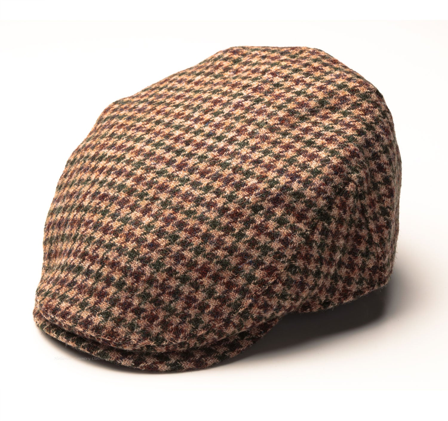 f637470ab5d Highland Harris Tweed Cap in Houndstooth Check