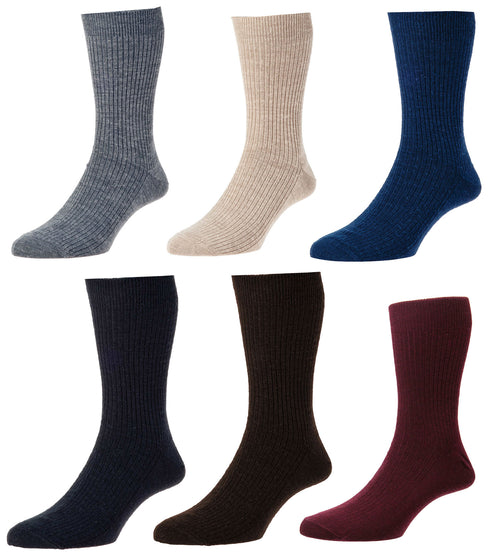 HJ Hall Immaculate Socks | Wool Rich | Six Colours