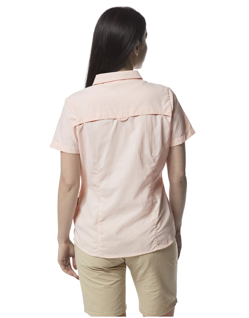 Back view Ladies Adventure Short Sleeve Shirt II by Craghoppers