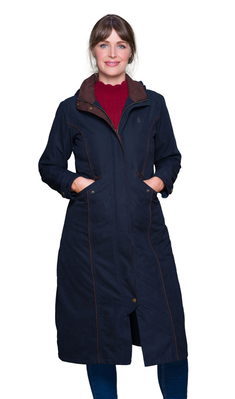 Jack Murphy Erin Long Waterproof Coat | Navy