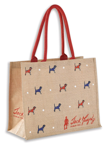 Jack Murphy Buckley Beagle Jute Bag sustainable bag for life