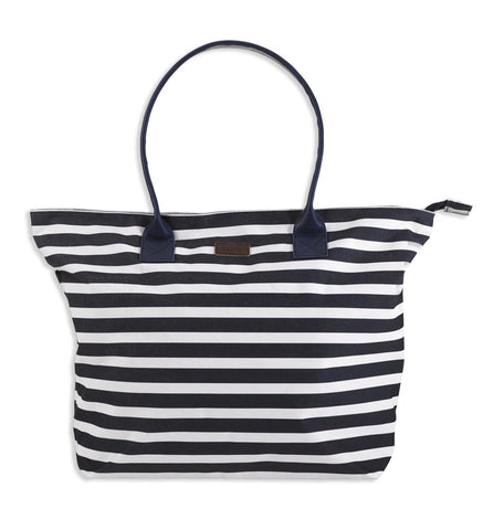 Jack Murphy Stripe Beach Bag french navy nautical stripe white
