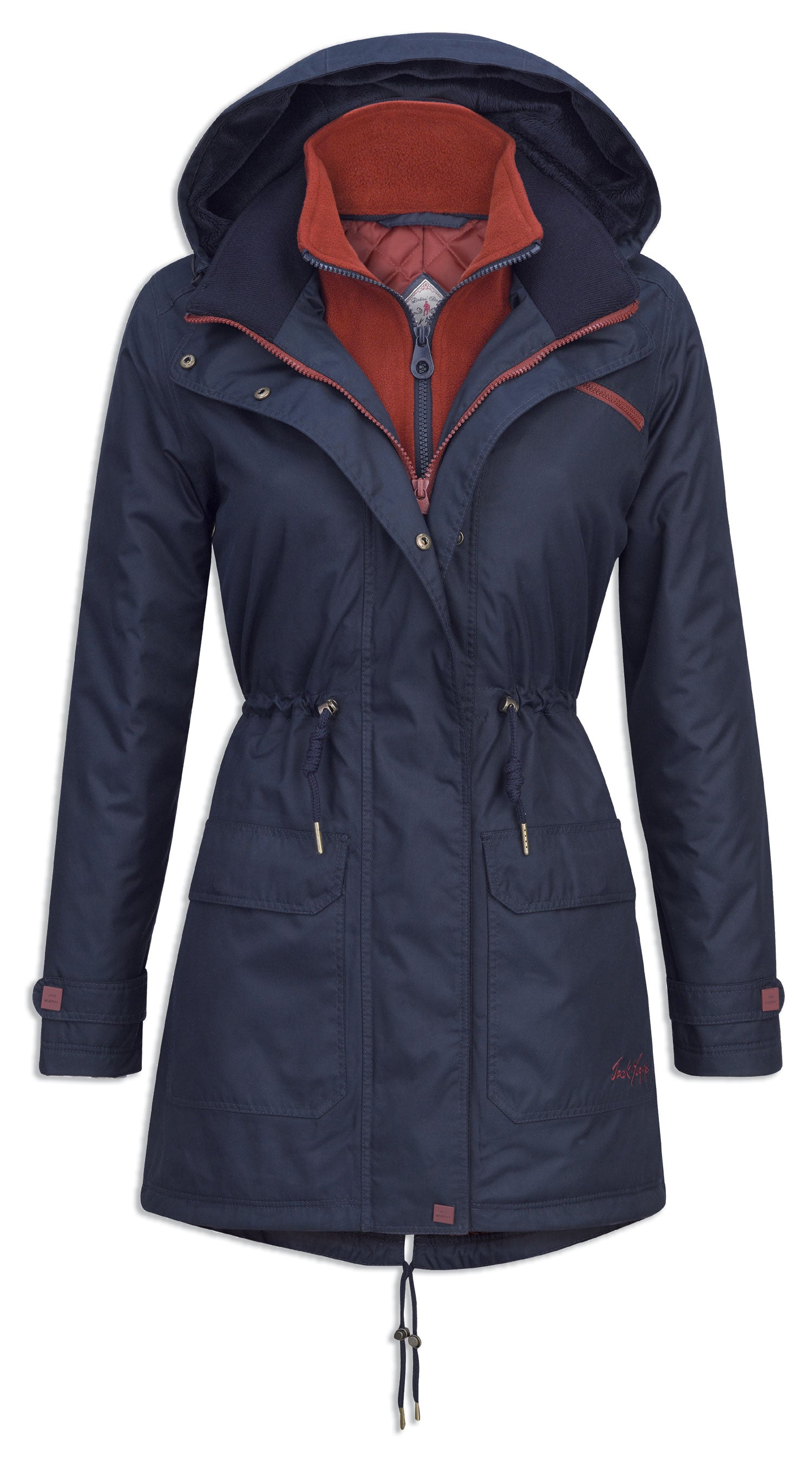 dog walking coat Jack Murphy Ladies Brooke Waterproof Coat in navy