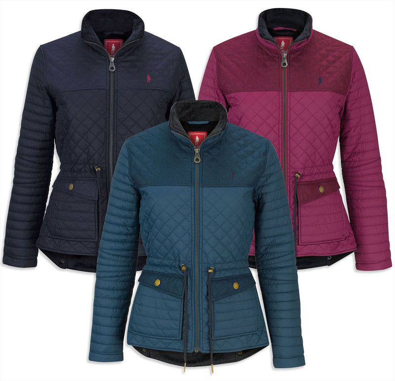 Jack Murphy Elizabeth Ladies Quilted Jacket Forest Teal Mix, Plum Potion Mix, Heritage Navy Mix