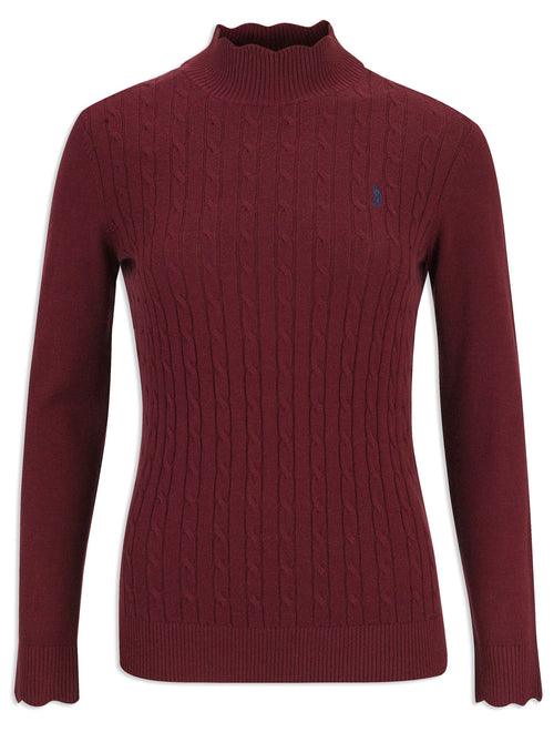 Jack Murphy Gillian Turtle Neck Jumper| Winter Burgundy