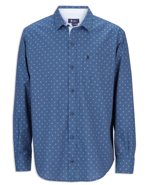 Jack Murphy Jeremy Cotton Shirt | Date Night Blue