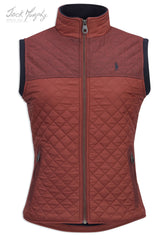 Jack Murphy Kris Quilted Gilet inred brick