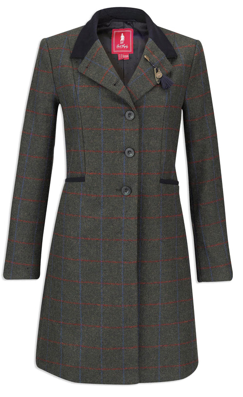 Jack Murphy Isabella Tweed Coat | Check Green
