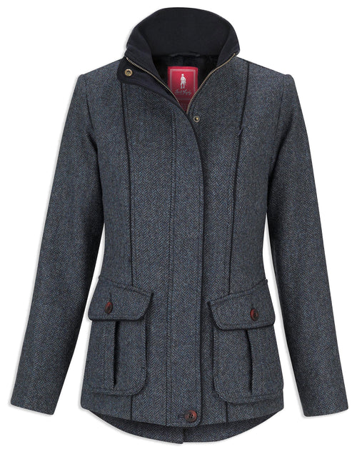 Jack Murphy Prue Tweed Jacket | Blue Teal