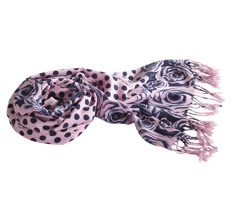 Jack Murphy Summer Scarf | Lilac Navy