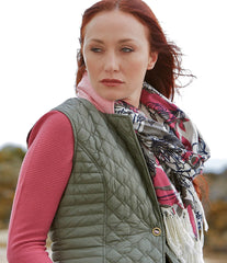 scarf worn with esme quilted gilet