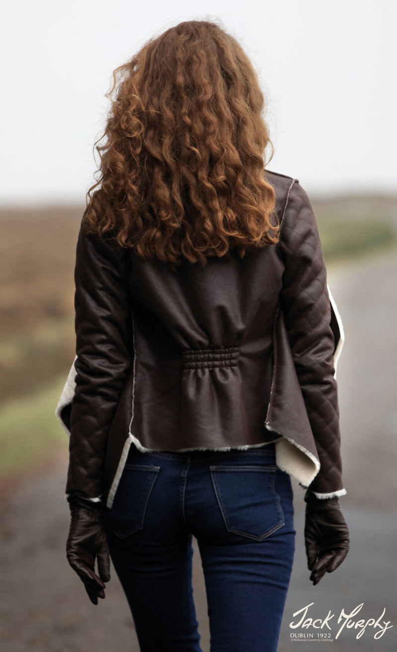 from the rear Jack Murphy Bonnie Jacket  Sumptuous Faux Fleece