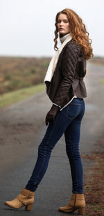 lady in boots wearin Jack Murphy Bonnie Jacket | Sumptuous Faux Fleece