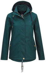 pine green leslie waterproof coat