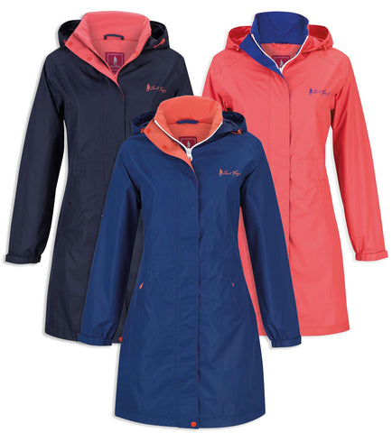 Lisa Mid Length Rain Jacket by Jack Murphy in three colours