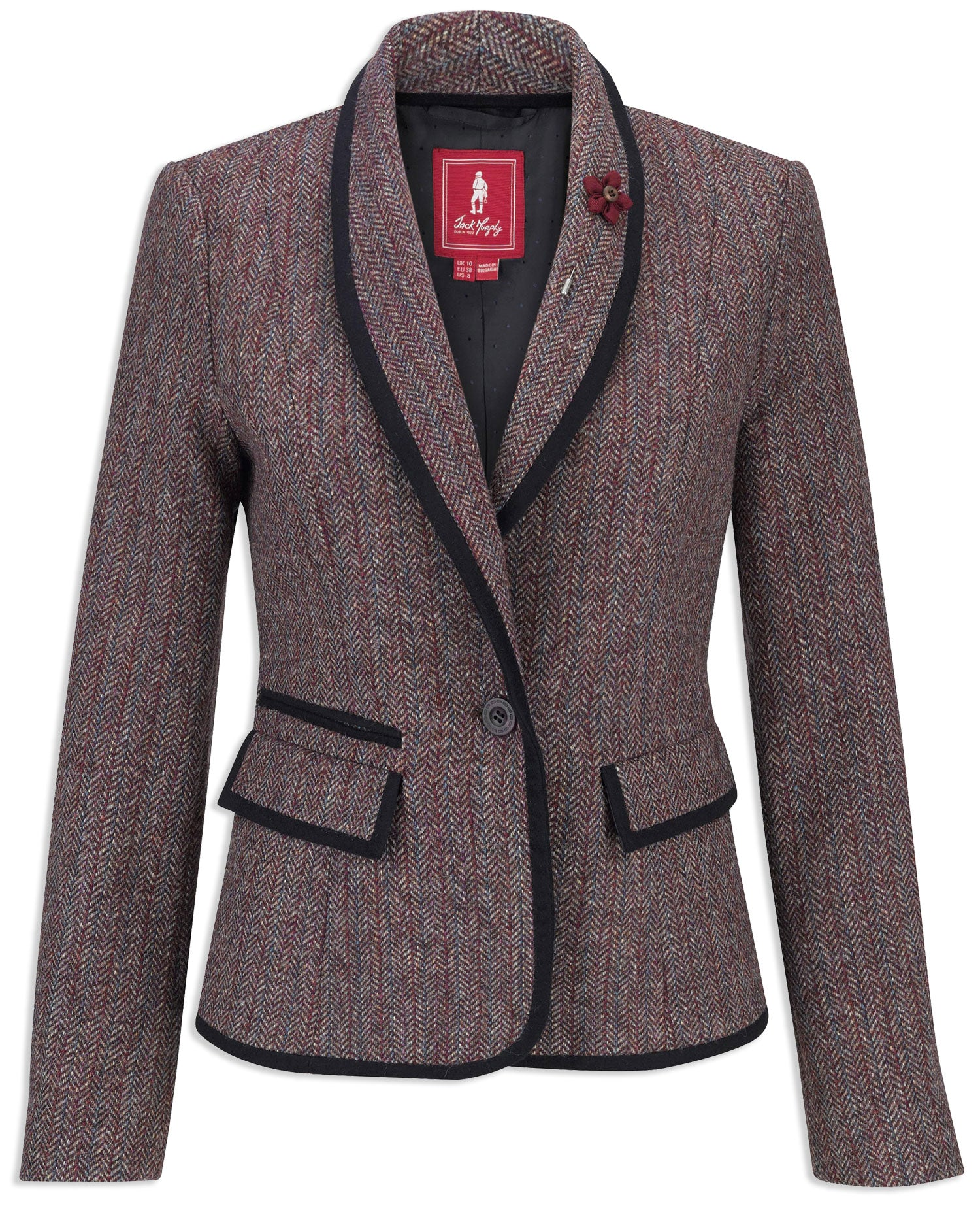 Jack Murphy Margot Ladies Tweed Blazer | Plum Berry