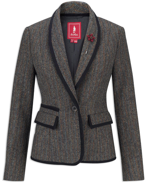Jack Murphy Margot Ladies Tweed Blazer | Outdoor Teal