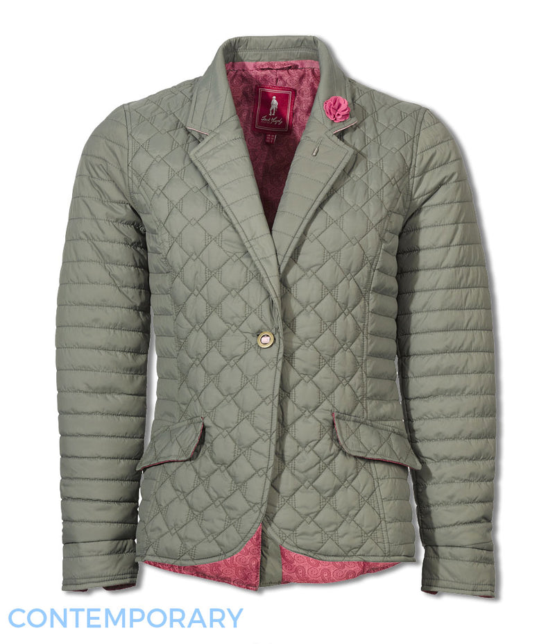 equestrian quilt Jack Murphy Meg Ladies Quilted Jacket