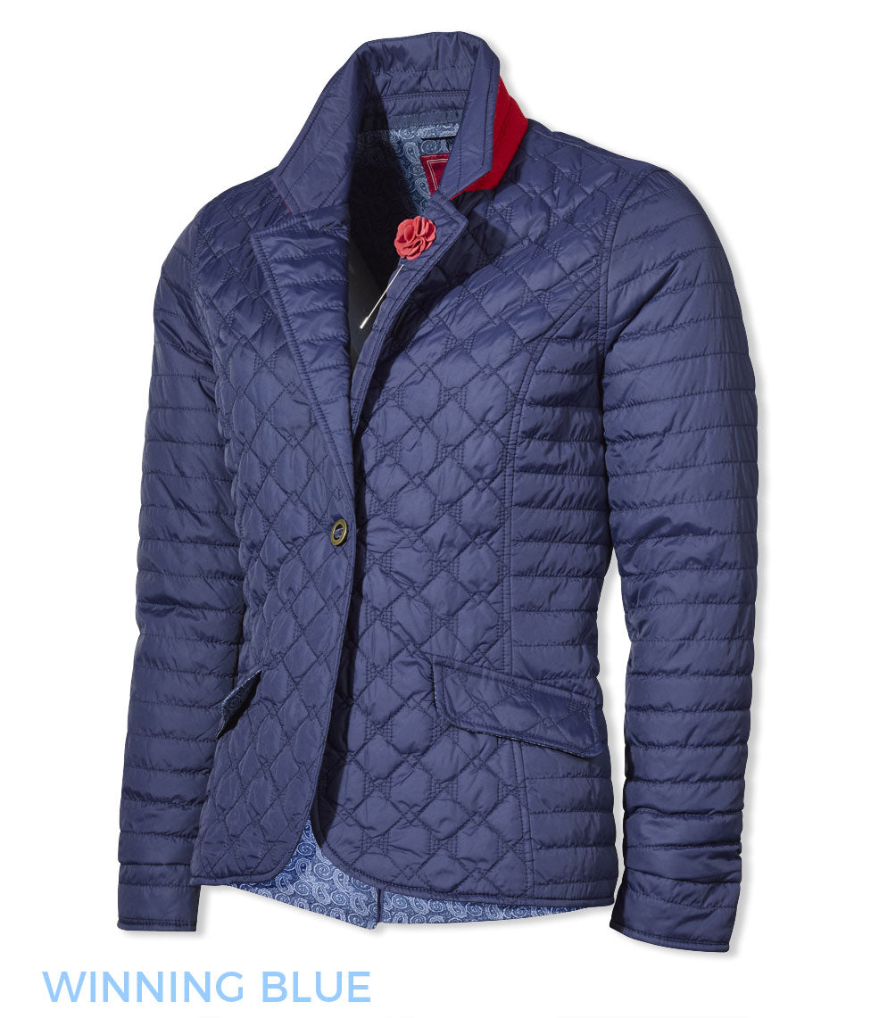 Jack Murphy Meg Ladies Quilted Jacket blue
