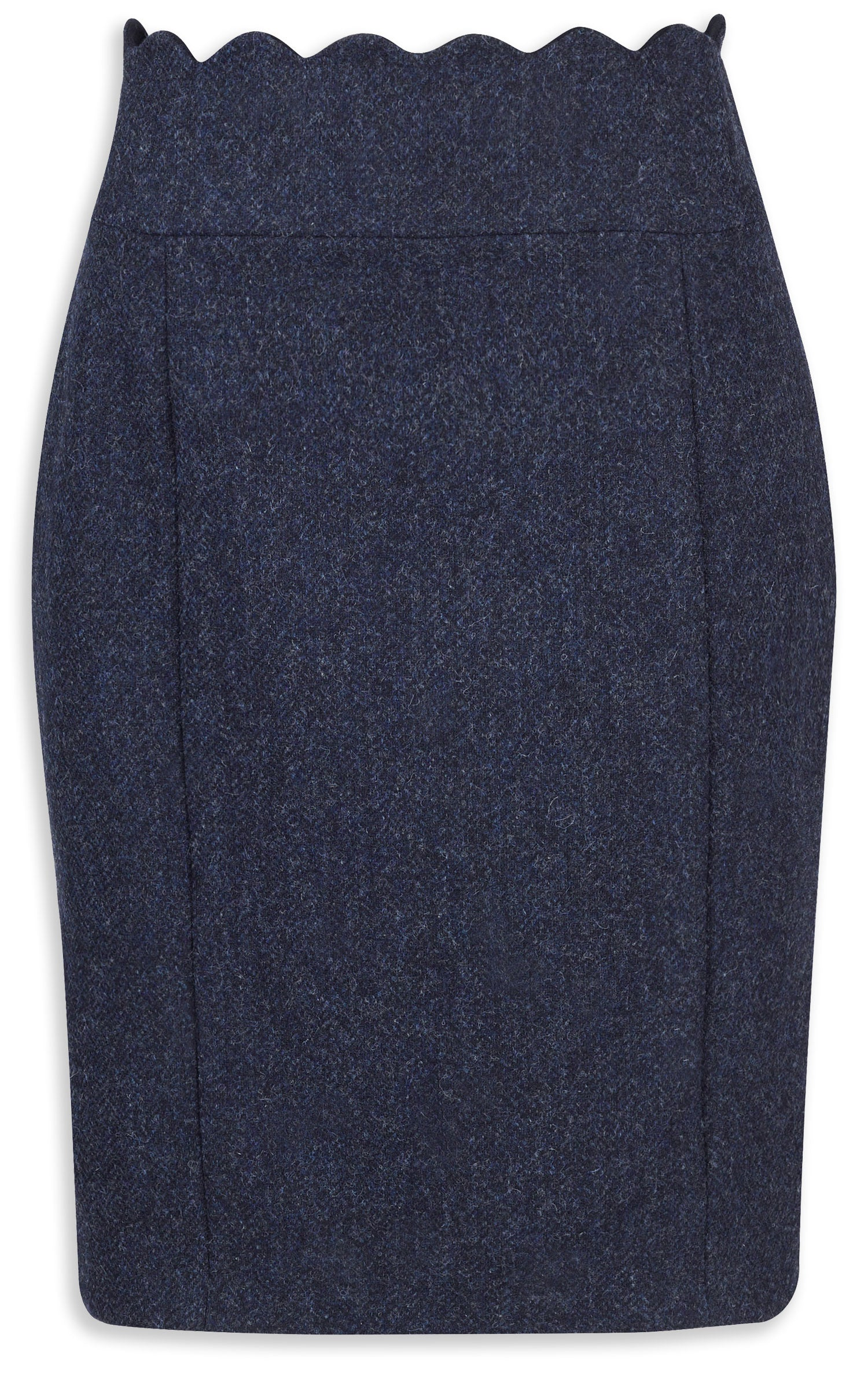 Jack Murphy Taylor Tweed Skirt Navy Herringbone,