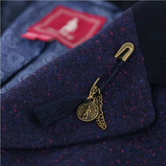 jack murphy pin brooch on a tweed lapel