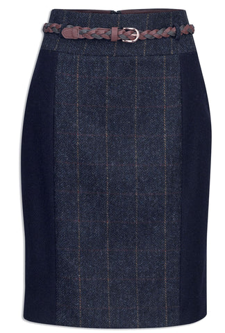 Jack Murphy Savannah Tweed Skirt - Golden Navy Wonder