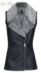 faux leather gilet Jack murphy Sia Faux Fleece Vest gilet