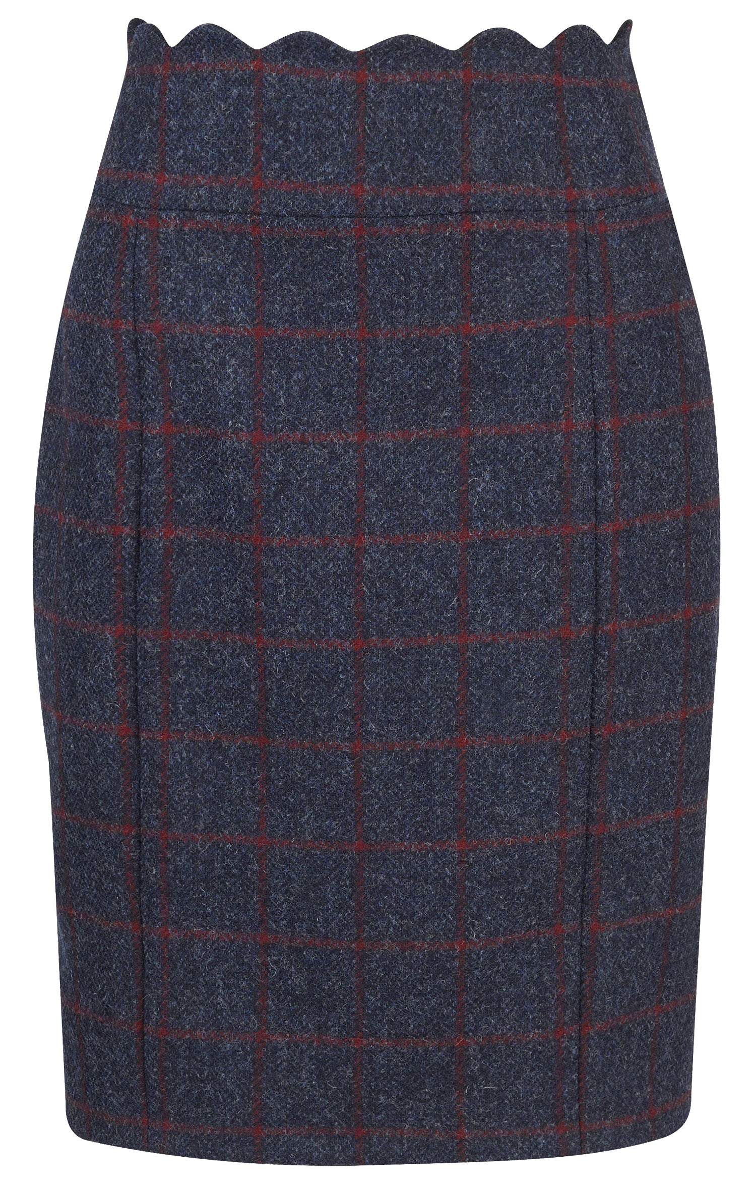 Jack Murphy Taylor Tweed Skirt Navy Herringbone Check