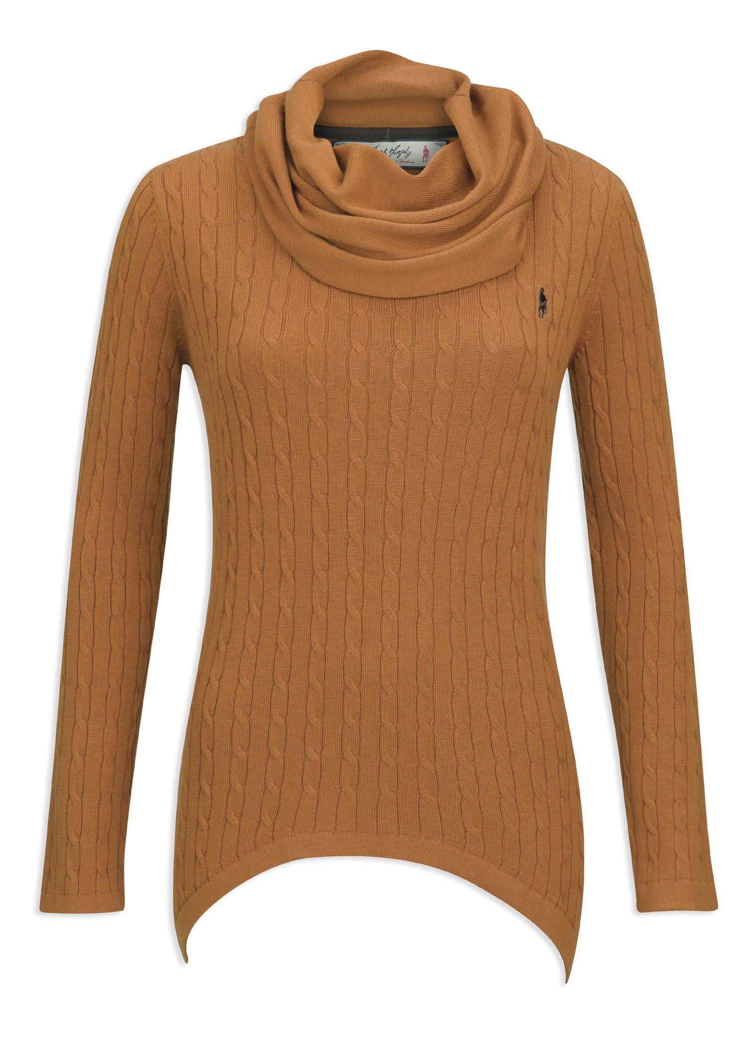 Jack Murphy Tiffany Cowl Neck Sweater | Yellow spice