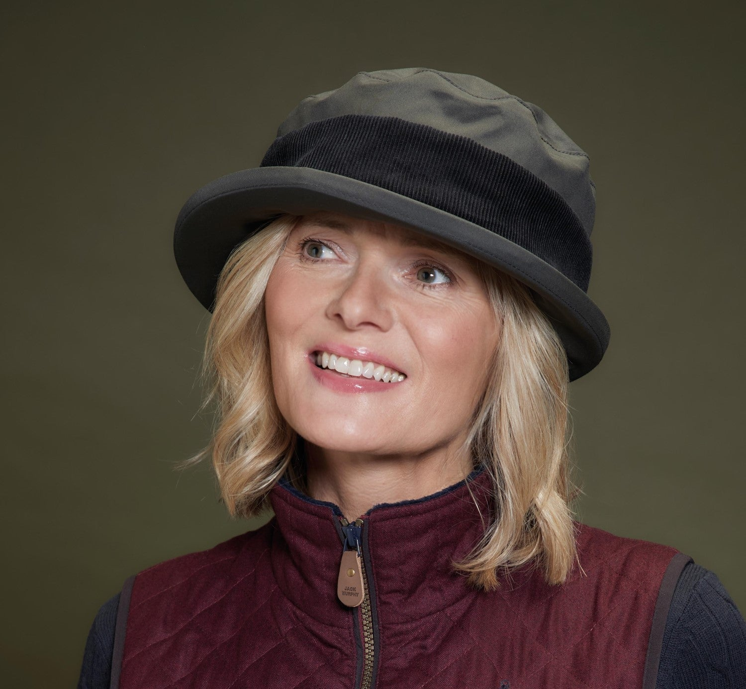 Olive green Jack Murphy Malvern Waterproof Ladies Country Hat
