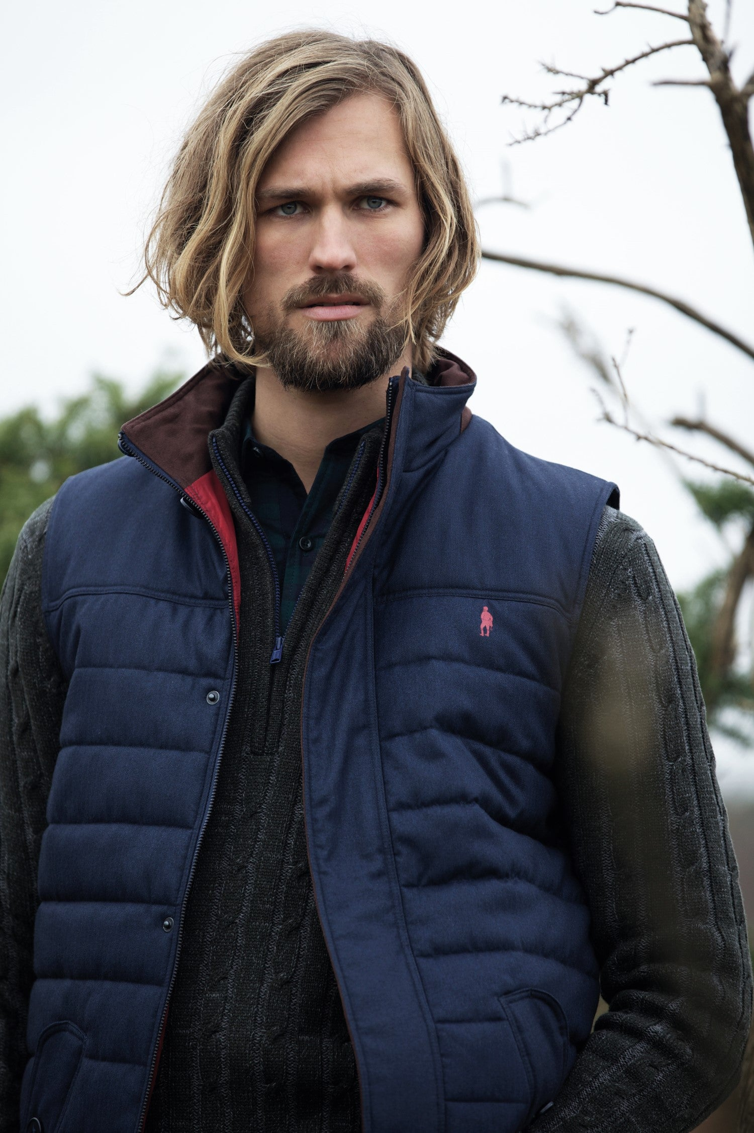 man wearing Jack Murphy Norman Quilted Gilet