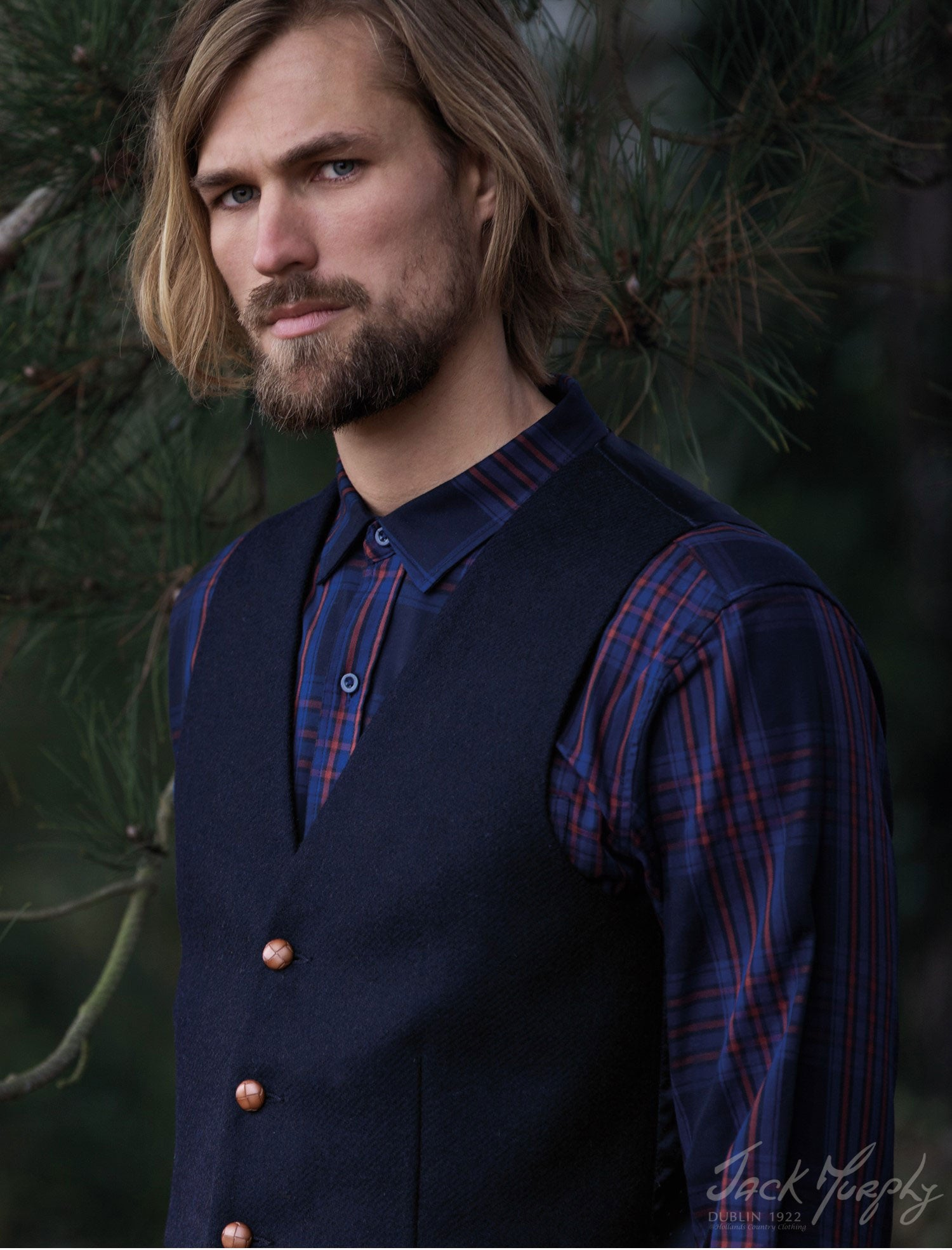 Byron Tweed Vest by Jack Murphy