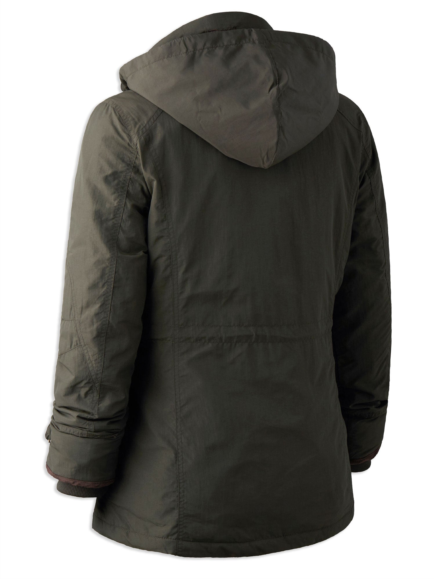rear view Deerhunter Lady Josephine Jacket Graphite green