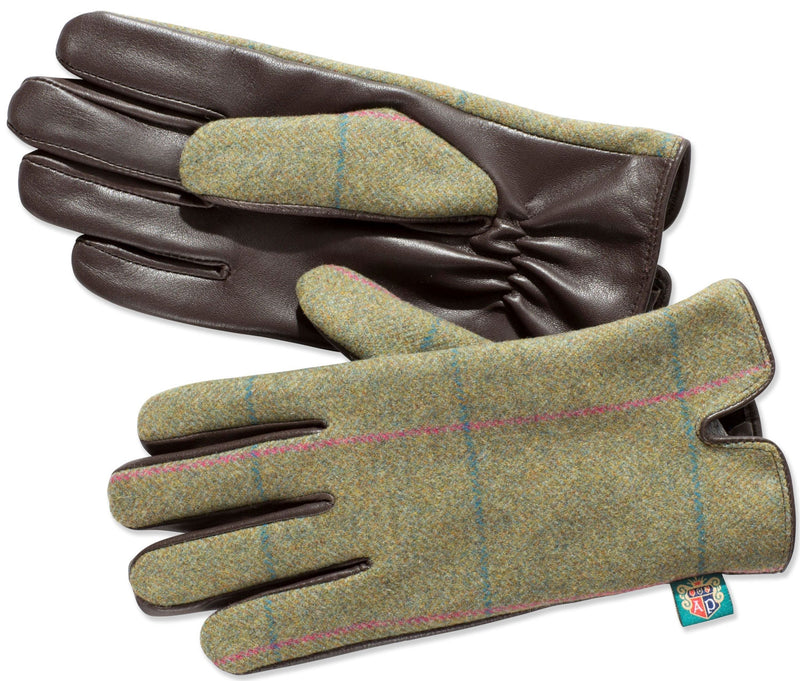 Alan Paine Combrook Ladies Tweed Gloves | Juniper