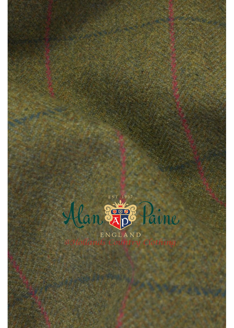 alan paine juniper tweed pattern green pink and blue
