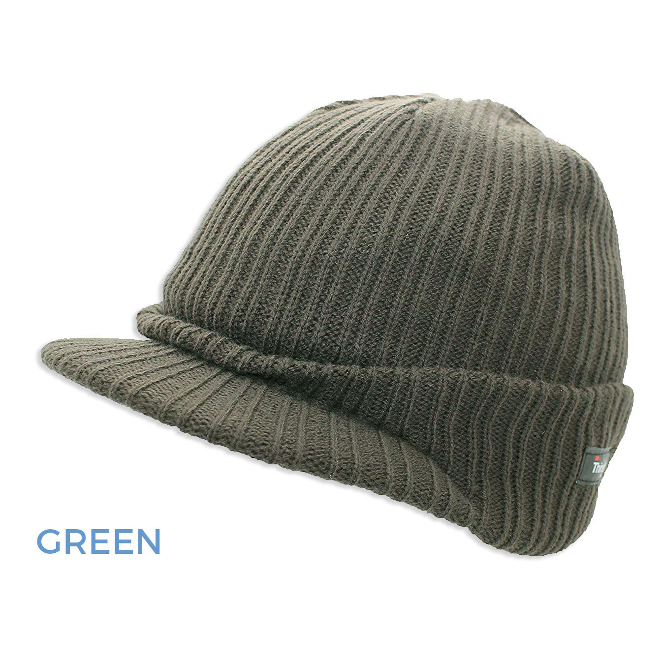 gREEN Thinsulate Knitted Peaked Watch Cap