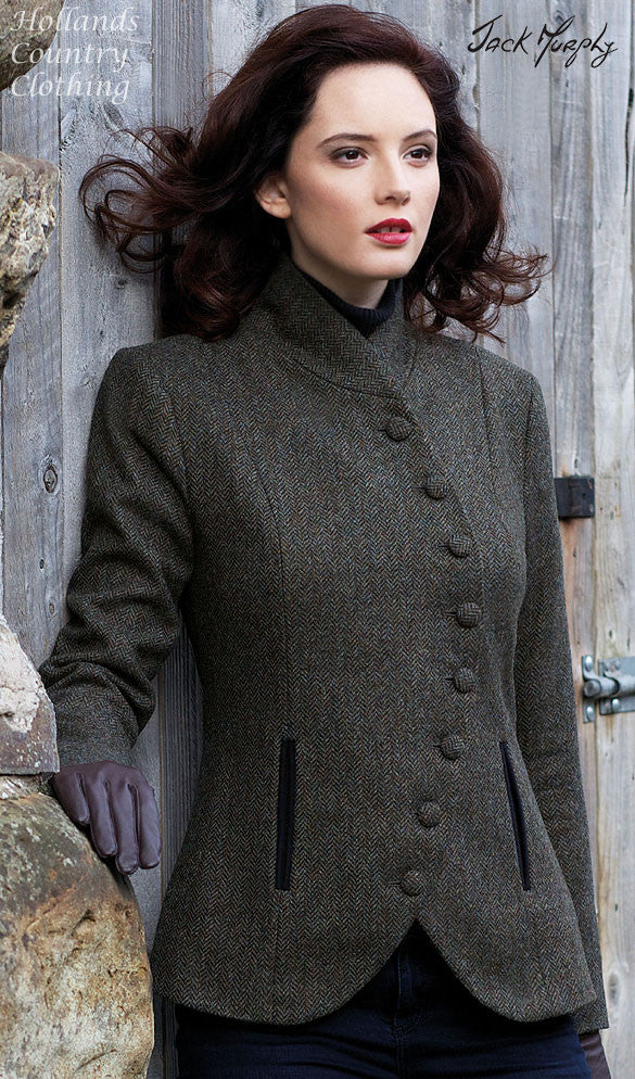 Beth Women/'s Trendy Tweed Jacket in Country Green in Size 16 Jack Murphy