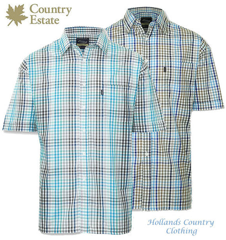 Champion Kelso Short Sleeved Shirt in blue checks