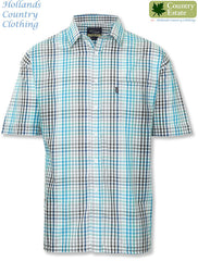 Champion Kelso Short Sleeved Shirt in country blue checks