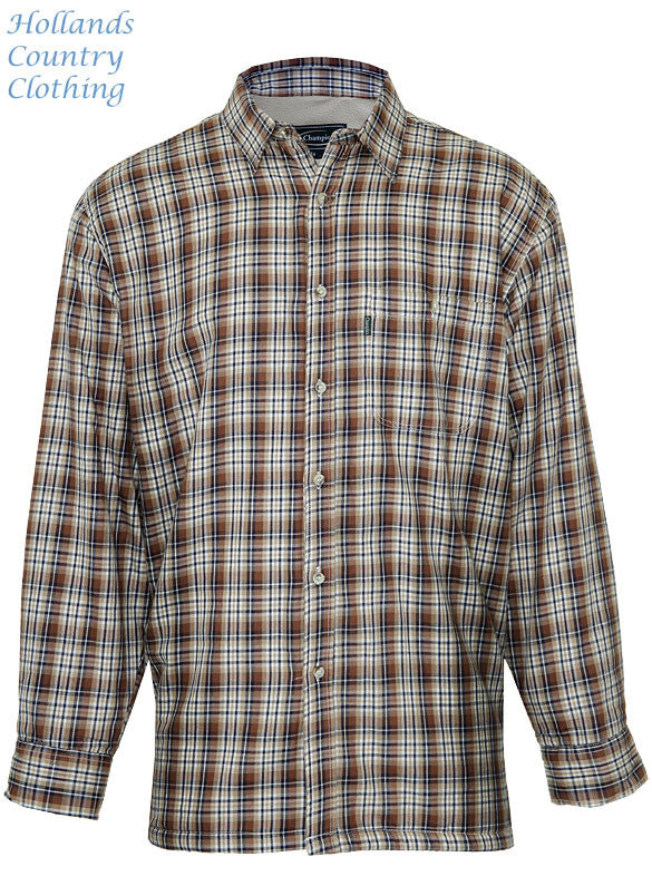 country Tartan plaid check shirt with a micro fleece lining that's ideal for winter weather