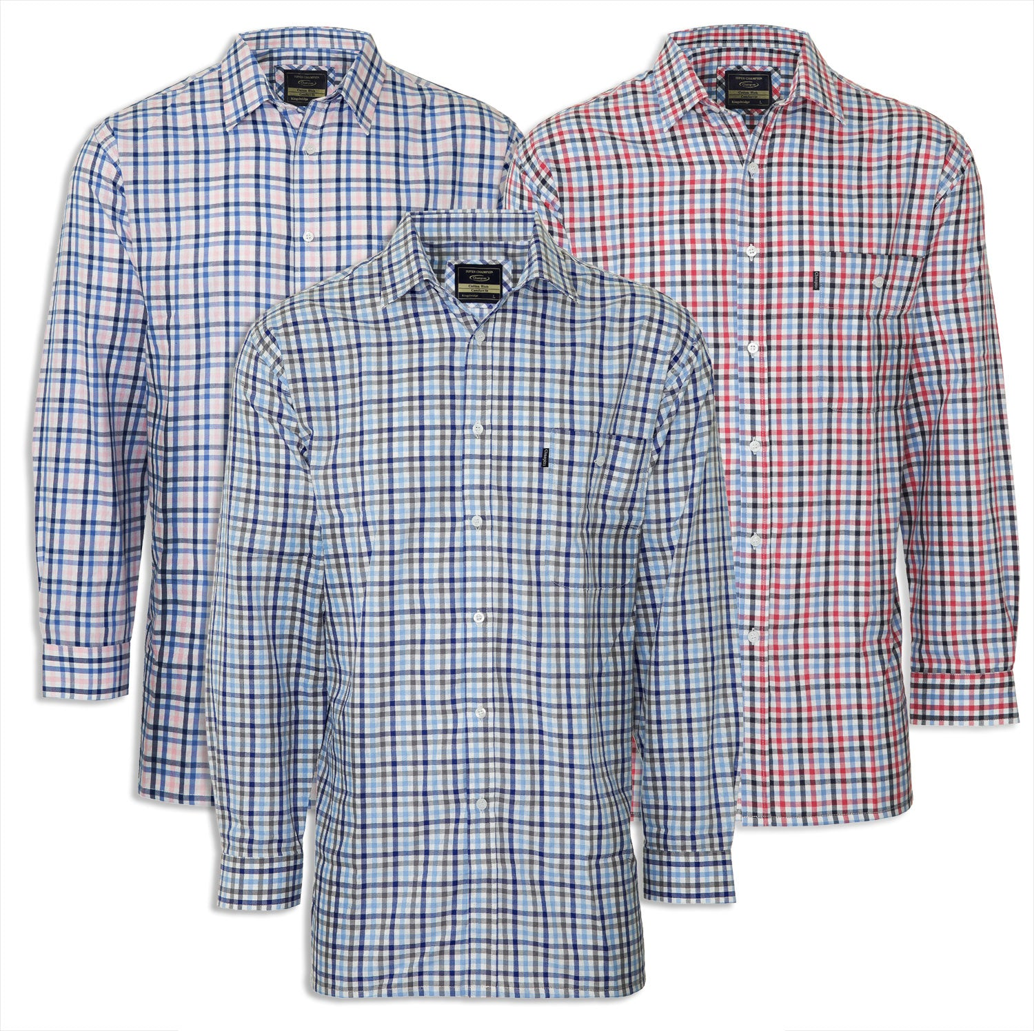Champion Kingsbridge Country Check Shirt. Three Colours