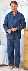 man's champion blue striped pyjamas