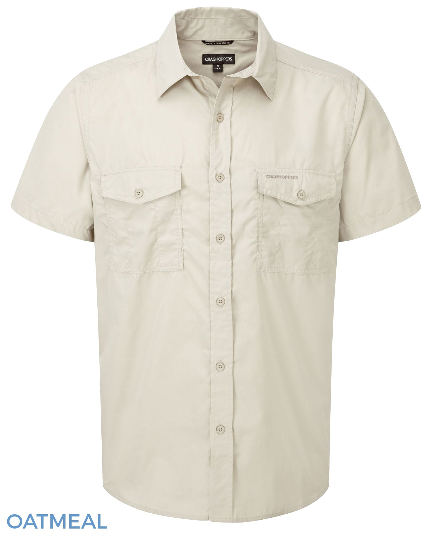 Craghoppers Kiwi Short Sleeved Shirt - Oatmeal