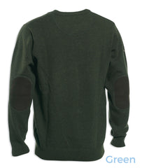 elbow patches on Deerhunter Hastings Knit O-neck Sweater