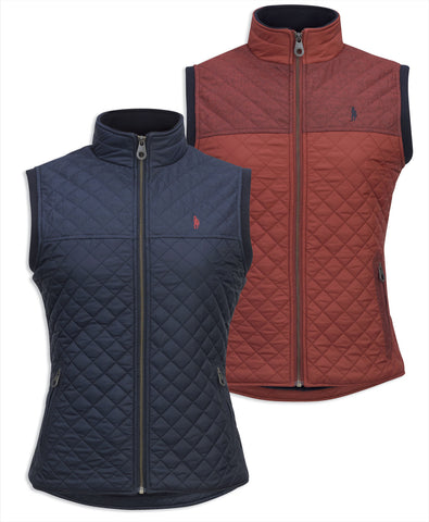 Jack Murphy Kris Quilted Gilet in two colours