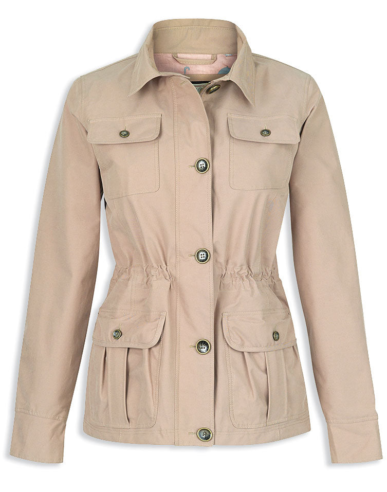 Jack Murphy Lacey Cotton Waterproof Military Style Jacket COLOUR TUSCAN