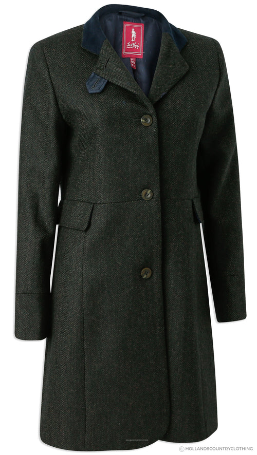 Jack Murphy Pamela Tweed Coat | Winning Green