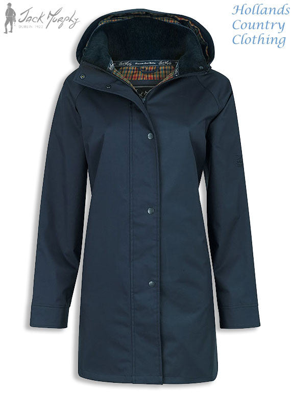 Jack Murphy Ladies Oxford Waterproof Coatin navy