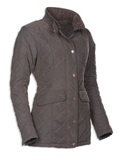 olive side view Baleno Cheltenham Quilted Jacket
