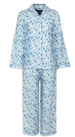front Champion Ladies Eleanor Pyjamas pure cotton floral print  blue